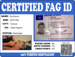 SissyFagDianes Certified Fag ID