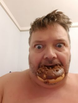 Donuts burgers pizza whatever this fucker can get out of the garbage