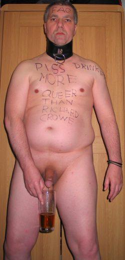 Faggot Andrew Brown Piss Drinker