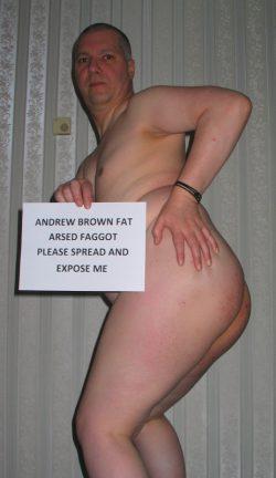 Faggot Andrew Brown