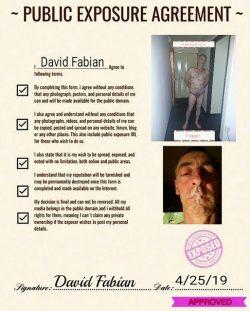 Exposed faggot