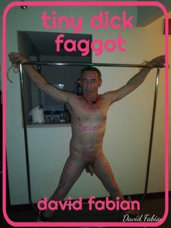 Tiny dick faggot cocksucker david