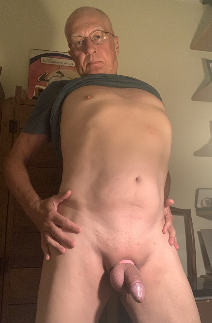 christian loucq exposes his small erect cock and his soft body