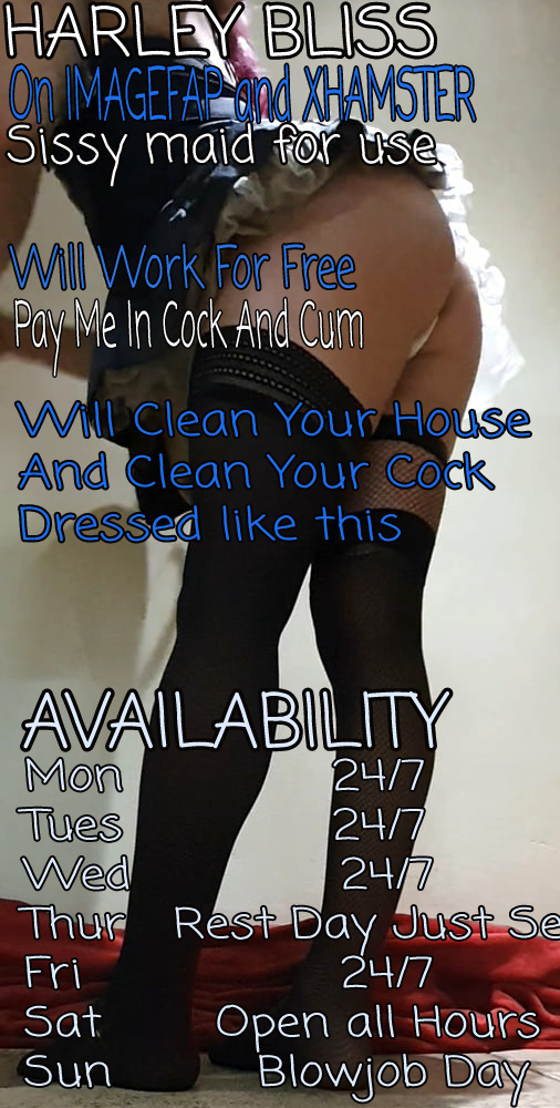 Sissy maid faggot for hire advert
