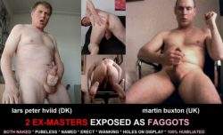 Two super hard exposure Masters – They have both exposed so many fags – now losers