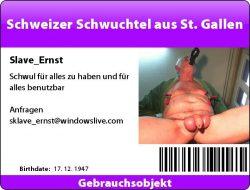 Stupid fag loser Ernst