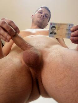 Boris Lupták naked showing ID. He definitely has nothing to hide