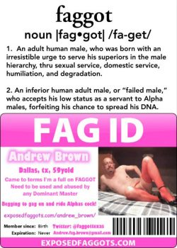 Andrew Brown – The very definition of a faggot