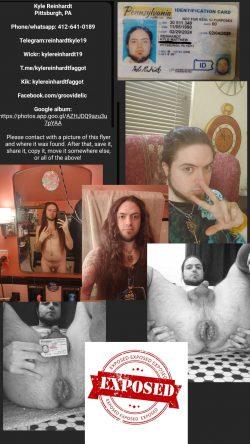 Kyle reinhardt exposed faggot Pittsburgh