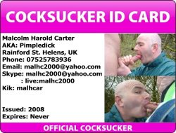 """Malcolm """"Pimple Dick"""" Carter contact info."""