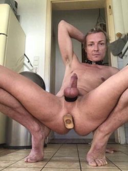 naked hot and plugged like a real slutfag