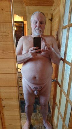 Fat faggot Guy Trepanier exposed naked with his tiny dick