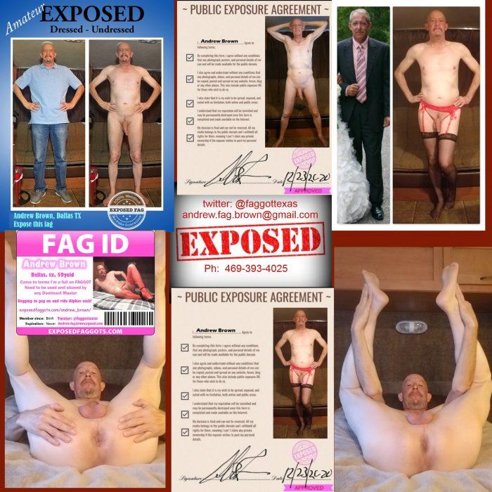 Andrew Brown – Exposed Faggot.