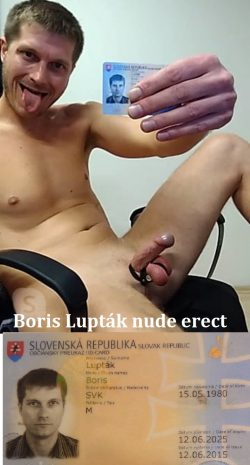 Boris Lupták gets so horny when exposed naked with his ID