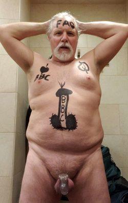 Fat Faggot Guy Trepanier exposed naked