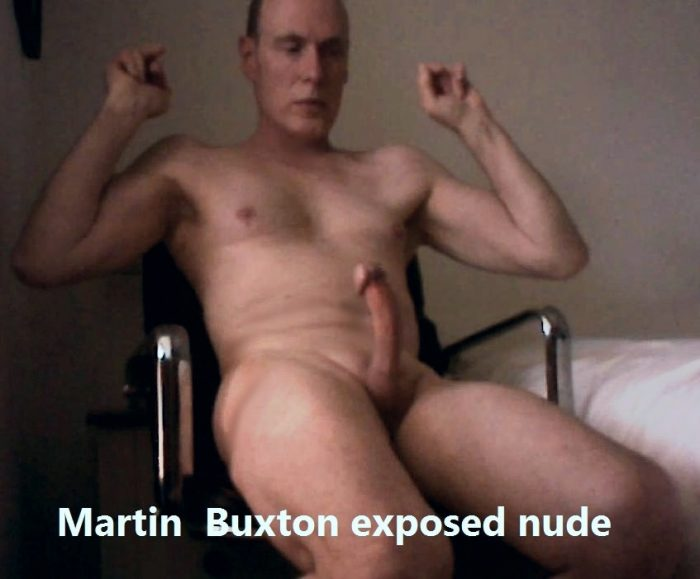 Martin Buxton trying not to jerk off