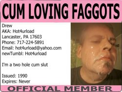 Cum covered faggot
