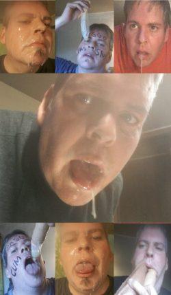 Cum hungry faggot