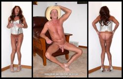 Naked exhibitionist and sissy slut Michael Higgins