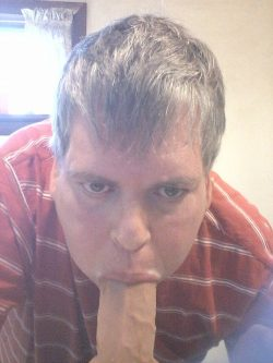 Cum hungry cocksucking faggot loves to fuck his own throat