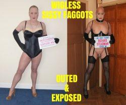 WIGLESS SISSY FAGGOTS EXPOSED