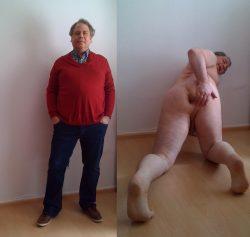 Angezogen oder nackt, ich bin immer eine schwule Arschhure