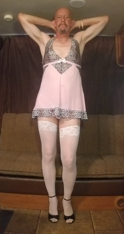 I treated myself to a few gifts..lingerie, nylons, heels, anklets, bracelets. Feeling very sexy  ...