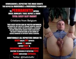 Exposed faggot Cristiano from Belgium
