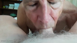 I must drain his balls dry because I am a cocksucker