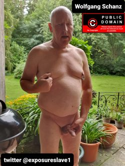 Wolfgang Schanz exposed wanking naked on the terrace