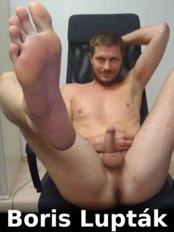 Boris Lupták showing feet ass face and hard cock. Expose him hard!