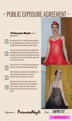 Exposure form of faggot PrincessNazli