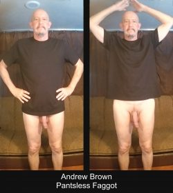 Starting the week with a little exposure. Andrew Brown Exposed Faggot